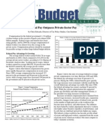 Federal Pay Outpaces Private-Sector Pay, Cato Tax & Budget Bulletin