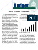 Number of Federal Subsidy Programs Is Soaring, Cato Tax & Budget Bulletin