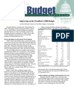 Improving on the President's 2008 Budget, Cato Tax & Budget Bulletin