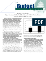 Spending Is Not Stimulus, Cato Tax & Budget Bulletin