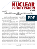 Nuclear Diplomacy with Iran