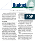 National Academy Fiscal Future Report, Cato Tax & Budget Bulletin