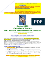Calendar of Events - May 1, 2016