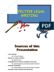 Effective Legal Writing