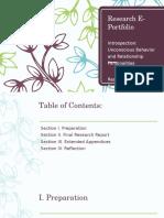 research e-portfolio