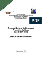Manual de Intruccion Del Entrevistador