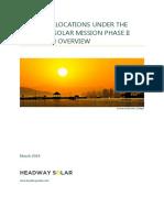 JNNSM National Solar Mission Phase II Batch I Result Analysis