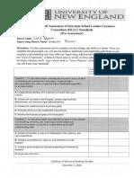isllc standards pre-assessment form  1