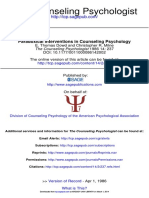 Paradoxical Interventions in Counseling Psychology