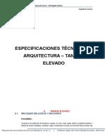 Especificaciones Tecnicas de Arquitectura - Tanque Elevado.docx