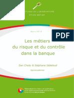 Etude Les Metiers Du Risque Et Du Controle Dans La Banque Site