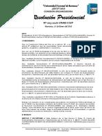 RESOLUCION PRESIDENCIAL N° 003- 2016 INCORPORACION DEL SALDO DEL BALANCE RUBRO 13