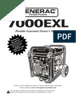 7000 EXL Generator Owners Manual
