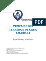 2016 - 05 - Mayo - 05 - Venta de Terrenos de Casa Amarilla - Violencia e Ilegalidades