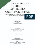 Handbook of the Birds of India and Pakistan v 3