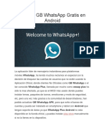 Instalar GB WhatsApp Gratis en Android