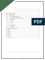 Light Detecting Sensor project report