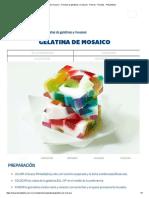 Gelatina de Mosaico - Recetas de Gelatinas y Mousses - Postres - Recetas - Philadelphia