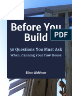30 Questions Before You Build Your Tiny House