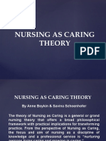 Nursing as Caring Theory