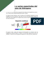 Espectros y Series Espectrales Del Átomo de Hidrogeno