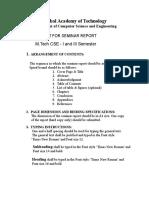 Newformat for 3rd Seminar Report