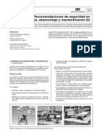 NTP 783 Grúas Torre. Recomendaciones de Seguridad en El Montaje, Desmontaje y Mantenimiento (II)