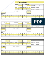Scouting Formations Defense