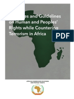 Principles and Guidelines on Human and Peoples Rights While Countering Terrorism in Africa