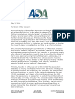 -Belfast Project Protection of Research Letter From American Sociological Association Presidents