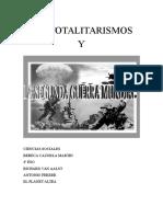 Los Totalitarismos y La Segunda Gerra Mundial