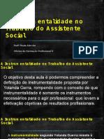 A Instrumentalidade No Trabalho Do Assistente Social