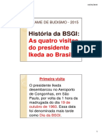 Historia Da BSGI - Texto Do Slide