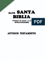 Santa Biblia Straubinger Antiguo Testamento