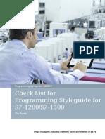 81318674 Programming Styleguide Checklist DOCU v11 En