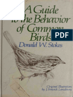 A Guide to the Behavior of Common Birds