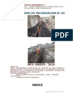 Informe Nº 05 Marzo Valorizacion Record Cconccacca