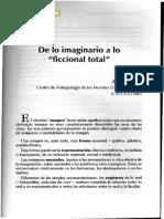 11133-26652-1-PB AUGE MARC de Lo Imaginario a Lo Ficcional Total