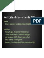 2016 TRENDS Finance