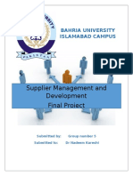 Supplier Management and Development Final Project