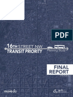 16th Street NW Transit Priority Planning Study, Final Report 2016
