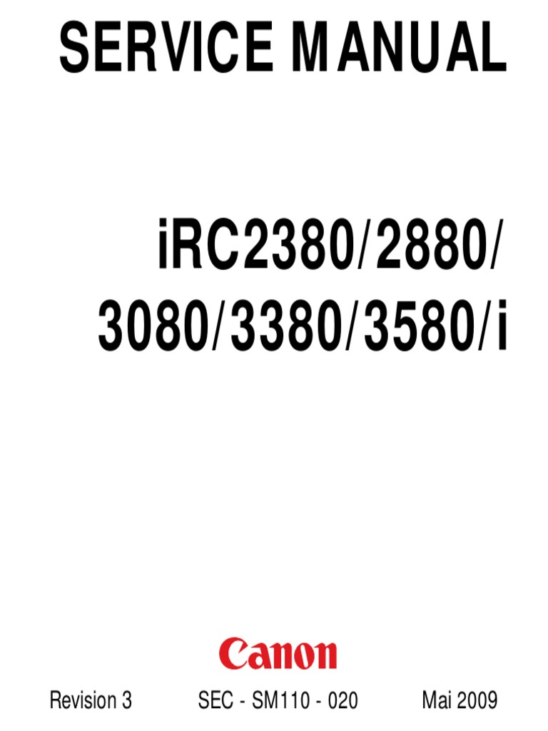 Canon iRC2380_2880_3080_3380_3580_i service manual
