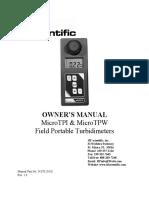 Om-24378 Microtpi-tpw Field Turbidimeter Manual