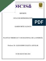 Ortiz Karim, Ciclo de Refrigeracion