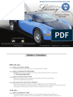 Brochure for Auction of Scott Rothstein Luxury Vehicles