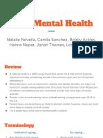 teen mental health presentation