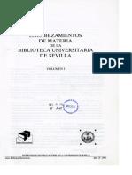 Encabezamientos de materia Universidad de Sevilla