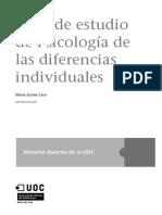 Guía de estudio de Psicología de las diferencias individuales