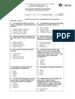 Evaluación Ciencias Naturales Materia