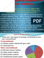 Power Stations Impact Environment